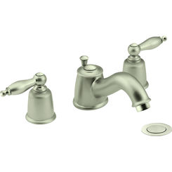 Click here to see Moen T4965STST MOEN T4965STST CASTLEBY 8 WIDESPREAD LAV SATINE / SATINE NEEDS ROUGHIN 69000 TO COMPLETE