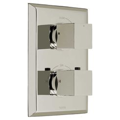 Click here to see Toto TS930C#PN Toto TS930C#PN Polished Nickel Lloyd Thermostatic Mixing Valve Trim, Single Control