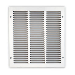 Click here to see Shoemaker 1050-8X8 8x8 Soft White Return Air Grille (Stamped from Cold Roll Steel) - Shoemaker 1050