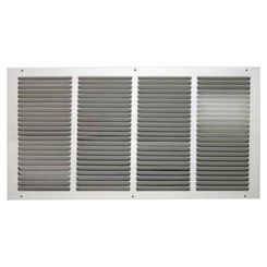 Click here to see Shoemaker 1050-8X4 8x4 Soft White Return Air Grille (Stamped from Cold Roll Steel) - Shoemaker 1050