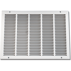 Click here to see Shoemaker 1050-12X12 12x12 Soft White Return Air Grille (Stamped from Cold Roll Steel) - Shoemaker 1050