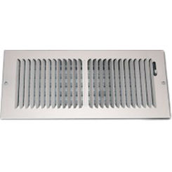 Click here to see Shoemaker 850-12X4  Shoemaker 850 Series 12X4 White 2-Way Stamped Vent Cover