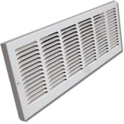 Click here to see Shoemaker 1133-30X6B 30x6B Driftwood Tan Baseboard Return Air Grille Stamped Face (Steel) - Shoemaker 1133
