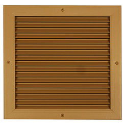 Click here to see Shoemaker 4000-10X10 10X10 Driftwood Tan Single Frame Aluminum Transfer Door Grille (Aluminum) - Shoemaker 4000