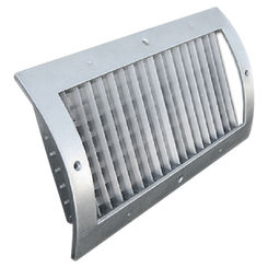 Click here to see Shoemaker RS34-0-14X6G 14X6 White Vent Cover (Galvanized)-Shoemaker RS34-0-GALV Series