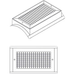 Click here to see Shoemaker SD34-36X10 36X10 White Vent Cover (Steel)-Shoemaker SD34 Series