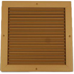 Click here to see Shoemaker 4000-36X24 36X24 Driftwood Tan Single Frame Aluminum Transfer Door Grille (Aluminum) - Shoemaker 4000
