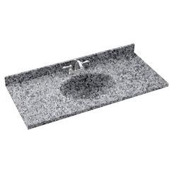 Click here to see Swanstone CH02255.042 Swanstone CH1B2255-042 Chesapeake Gray Granite Vanity Top