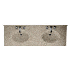 Click here to see Swanstone CH022732B.060 Swanstone CH2B2273-060 Chesapeake Winter Wheat Vanity Top