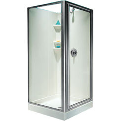 Click here to see Swanstone SD03636CG.081 Swanstone SD-DTFC-081 Clear Glass / Chrome Shower Door For 36