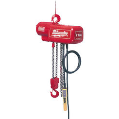 Click here to see Milwaukee 9565 Milwaukee 9565 model 1 Ton Electric Chain Hoist