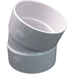 Click here to see Commodity  4 Inch PVC Sewer & Drain 22.5 Degree Elbow