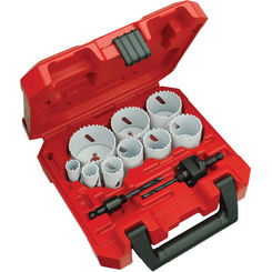 Click here to see Milwaukee 49-22-4025 Ice Hardened 49-22-4025 Bi-Metal General Purposes Hole Saw Kit, 13 Pieces