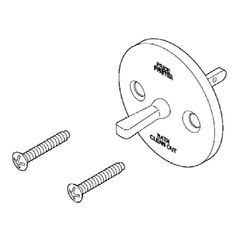 Click here to see Pfister 960-041A Pfister 960-041A 19 Series Bathtub Drain Overflow Plate with Screws, Chrome