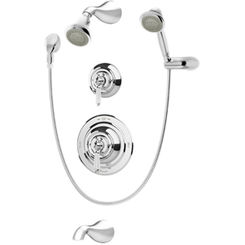 Click here to see Symmons 4406-STN Symmons 4406 Satin Nickel Carrington Series Bathroom Shower System