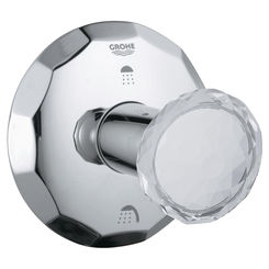 Click here to see Grohe 19271VP0 Grohe 19271VP0 Chrome Round Handle Kensington 3 Port Diverter Trim