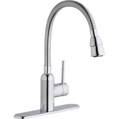 Click here to see Elkay LK2500CR Elkay Pursuit Laundry/Utility Faucet with Flexible Spout Forward Only Lever Handle Chrome - LK2500CR