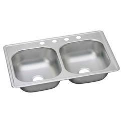 Click here to see Elkay K233224DF Elkay K233224DF Dayton Stainless Steel Double Bowl Sink Package