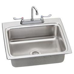 Click here to see Elkay LR2522C Elkay LR2522C Gourmet Stainless Steel Single Bowl Sink Package