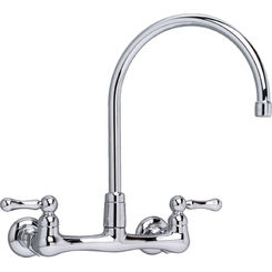 Click here to see American Standard 7293.152.002 American Standard 7293.152.002 Heritage Wall-Mounted Gooseneck Faucet - Chrome
