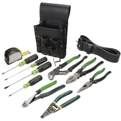 Click here to see Greenlee 0159-13 Greenlee 0159-13 Electrician's Kit (12 piece)