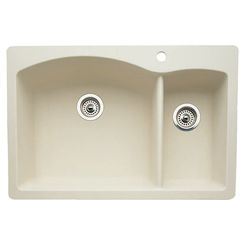 Click here to see Blanco 440201 Blanco 440201 Diamond Biscuit 1-1/2 Bowl Dual-Mount Sink