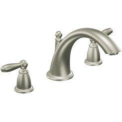 Click here to see Moen T933BN Moen T933BN Two Handle Low Arc Roman Tub Faucet