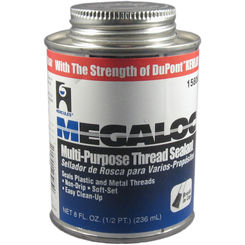 Click here to see Oatey  1/2 Pint Megaloc Thread Sealant