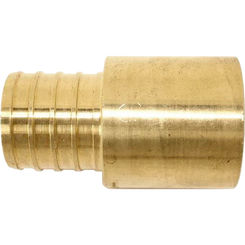 Click here to see   1 Inch PEX to Copper Male Sweat Adapter, Brass Construction