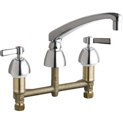 Click here to see Chicago Faucet 201-AL8VPAXKABCP CHICAGO 201-AL8VPAXKABCP KITCHEN SINK FAUCET W/O SPRAY