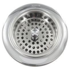 Click here to see Kohler 8799-CP KOHLER K-8799-CP DUOSTRAINER L/TAILPIECE POLISHED CHROME