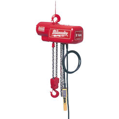 Click here to see Milwaukee 9573 Milwaukee 9573 model 2 Ton Electric Chain Hoist
