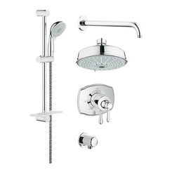 Click here to see Grohe 35054000 Grohe 35054000 GrohFlex Shower Set - StarLight Chrome