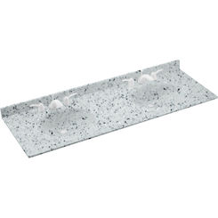 Click here to see Swanstone VT022612B.053 Swanstone VT2B2261-053 Ellipse Double Bowl Vanity Top, 61