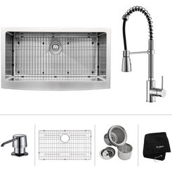 Click here to see Kraus KHF200-36-KPF1612-KSD30CH Kraus KHF200-36-KPF1612-KSD30CH Kitchen Sink And Faucet Combo