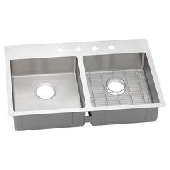 Click here to see Elkay ECTSRAD33226BG0 Elkay ECTSRAD33226BG0 Crosstown Stainless Steel Equal Double Bowl Dual Mount Sink Kit