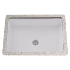 Click here to see Toto LT221#01 Toto LT221#01 Cotton White Rectangular Undermount Lavatory Sink