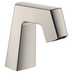 Click here to see Chicago Faucet EQ-B11A-KJKABBN Chicago Faucets EQ-B11A-KJKABBN EQ BRUSHED NICKEL 243.145.AB.1 0.5 GPM (1.9 L/min) Non-Aerating Spray Cache Outlet EQ Angular Electronic Integral Spout Assembly