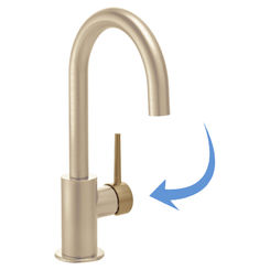 Click here to see Delta RP77701CZ Delta RP77701CZ Trinsic Metal Lever Handle Kit for Contemporary Bar Faucets, Champagne Bronze