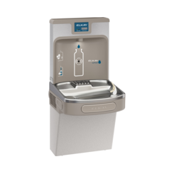 Click here to see Elkay LZS8WSLP Elkay LZS8WSLP Enhanced ezH2O Bottle Filling Station w/ Single Cooler - Filtered, 8 GPH, Wall Mount, ADA, Light Gray Granite
