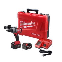 Click here to see Milwaukee 2704-22 Milwaukee 2604-22 Cordless Hammer Drill/Driver Kit, 18 V, Li-Ion, 1/2 in Keyless Chuck
