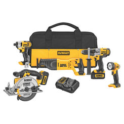 Click here to see Dewalt DCK590L2 Dewalt DCK590L2 Combo Kit, 12 Pieces, 20 V Li-Ion, 3 Ah
