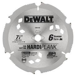 Click here to see Dewalt DW3193 Dewalt 20 Hardiplank Circular Saw Blade, 7-1/4in