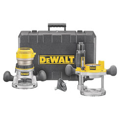 Click here to see Dewalt DW616PK Dewalt DW616PK Fixed Base Router Combo Kit, 11 A, 1-3/4 hp, 24500 rpm