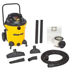 Click here to see Shop-Vac 9651400 Pro 9651400 Wet/Dry Corded Vacuum, 120 VAC, 11.8 A, 6 hp, 14 gal Tank, 200 cfm