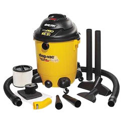 Click here to see Shop-Vac 9689400 Shop-Vac 9689400 Wet/Dry Corded Vacuum with Built-In Pump, 120 VAC, 11.5 A, 5.5 hp, 14 gal Tank