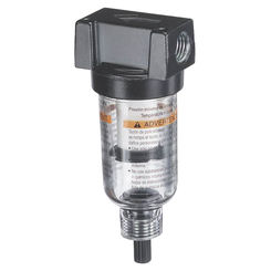 Click here to see Tru-Flate 24-343 Tru-Flate 24-343 Manual Mini Air Line Filter, 1/4 in FNPT, 20 scfm, 1 oz, 5 micron, Polycarbonate