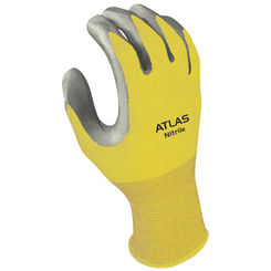 Click here to see Showa Atlas 3704CM-07.RT Atlas 370 Protective Gloves, Size 7, Medium, Nitrile, Clear, Nylon Lining
