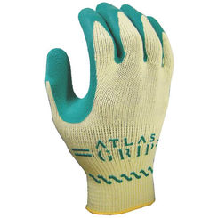 Click here to see Showa Atlas 310GXS-06.RT Kids Atlas Grip 310 Protective Gloves, Size 6, X-Small, Cotton, Green on Yellow