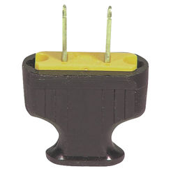 Click here to see Cooper 1912B-BOX Cooper 1912B-BOX Non-Grounded Flat Handle Electrical Plug, 125 VAC, 15 A, 2 P, 2 W, Brown
